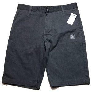 Volcom VMONTY Stretch Shorts AO9117V3 Charcoal